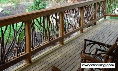 Railings Wood Railing And Rustic On Pinterest