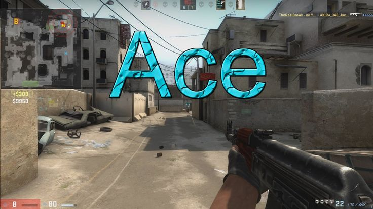 CS:GO Ace - 8HP left, lucky ace