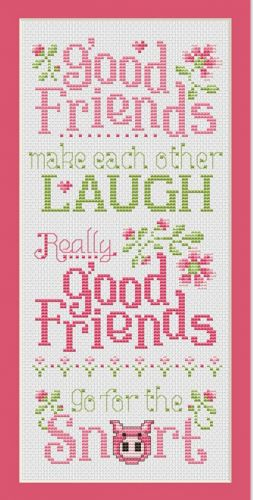 This item is part of the Norden Online Market that launches August 8th. Good Friends is the title of this cross stitch pattern from Sue Hilis Designs.