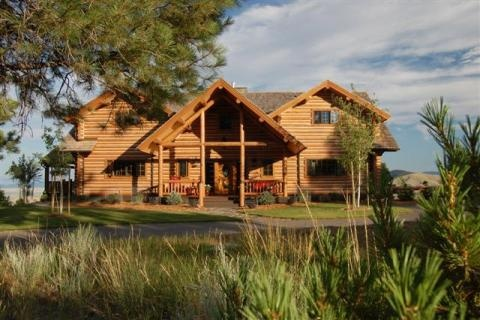 21 best images about montana real estate on pinterest for Elegant log homes