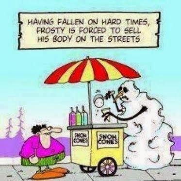 Funny snowman cartoon image