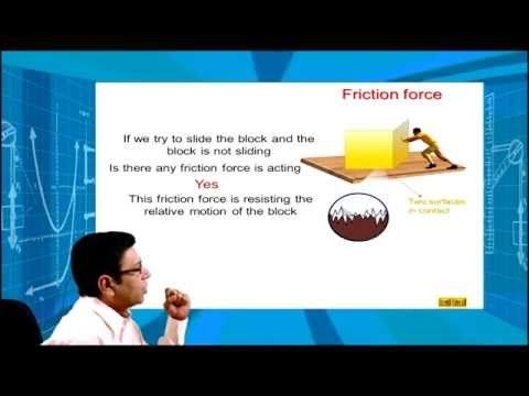IIT JEE PHYSICS | Class 11| FRICTION FORCE| LAWS OF MOTION| by:- B.M SHARMA - YouTube