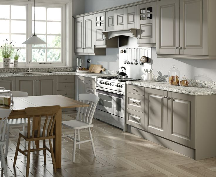 Vancouver Stone Grey Kitchen - Choose Style available at Kitchens Direct NI