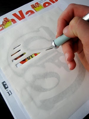 Freezer paper stencil printing                                                                                                                                                                                 More