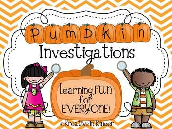 The Great Pumpkin Investigation! This 40-page pumpkin unit includes: life cycle cards,