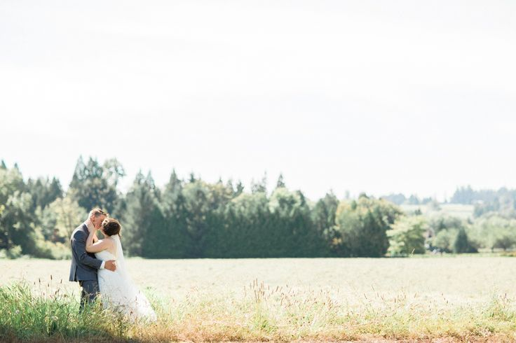 Open Field Wedding Kisses #WeddingKiss #FieldWedding