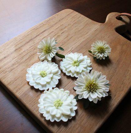 マイクロアスターのお花絞り|新潟 手作り石鹸の作り方教室 アロマセラピーのやさしい時間
