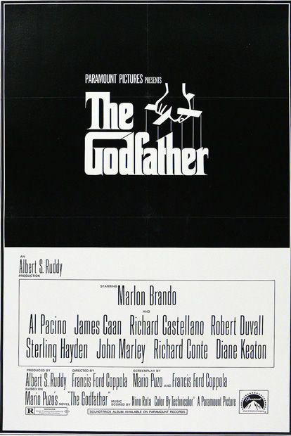 6. The Godfather (1972) - The 75 Most Iconic Movie Posters of All Time | Complex