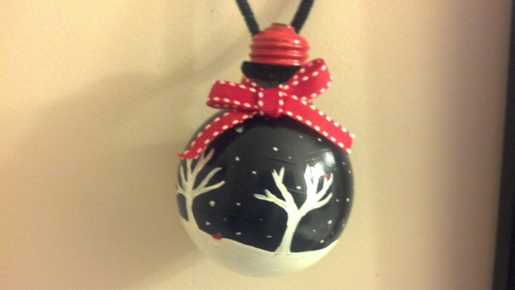 Astounding Recycled Light Bulb Christmas Ornament Winter Wonderland Easy Diy Christmas Decorations Tissureus
