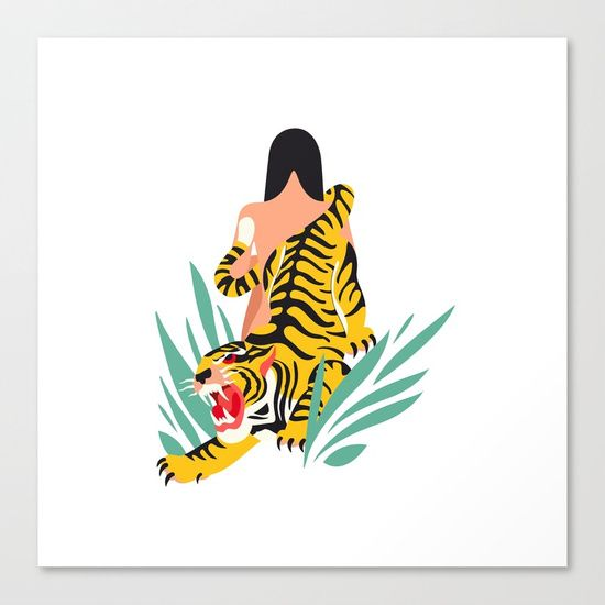 Waking the tiger Canvas Print