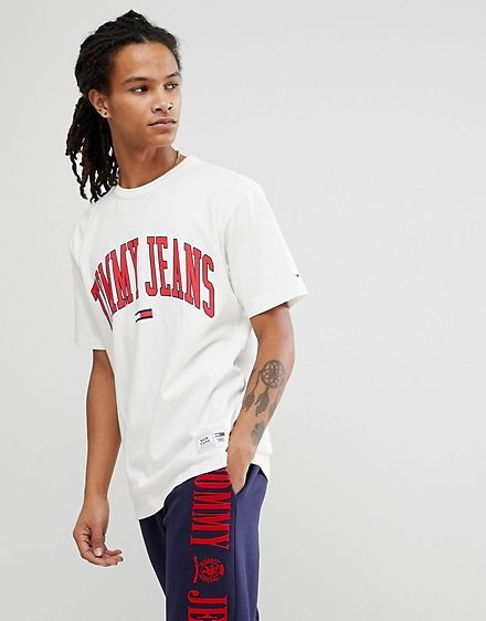 3ada3e345 Tommy Jeans Collegiate Capsule T-Shirt in White | GANT | Tank shirt ...