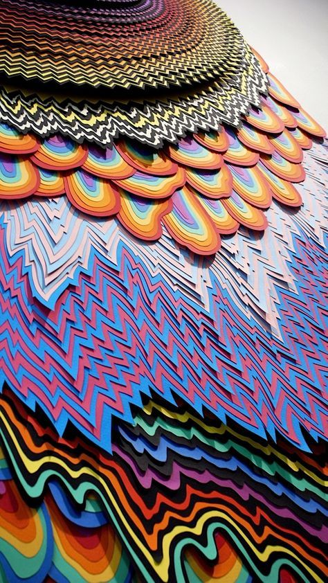 Best Jen Stark Images On Pinterest Paper Paper Art And - Mesmerising hand crafted paper sculptures jen stark