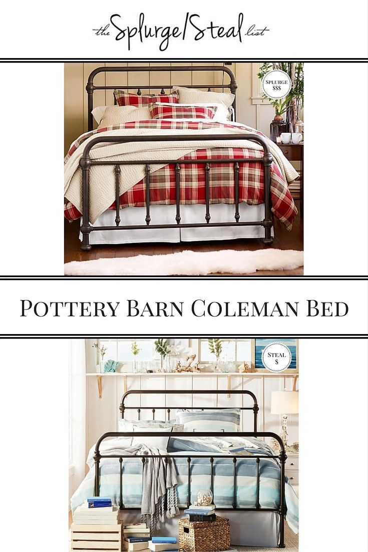 Pottery Barn Vintage Style Metal Iron Coleman Bed Cheaper
