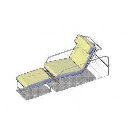 Chaise Longue 2 3D dwg