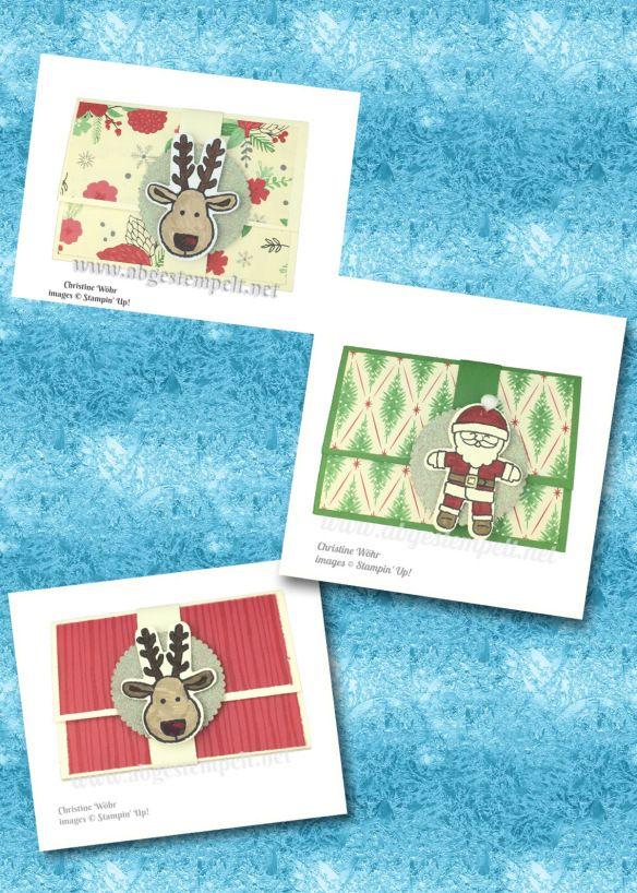 Galerie | Abgestempelt Gutschein-Etuis für Weihnachten  Gift Card Holder for Christmas  Cookie Cutter, ausgestochen weihnachtlich , Stamin' Up!