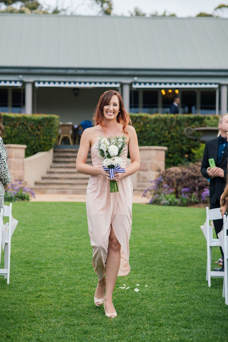 Emma + Rob's Central Coast wedding at Bell's Killcare. Bridesmaid