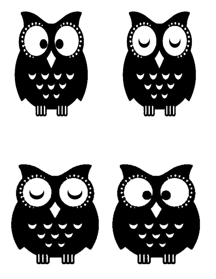 Best 631 stencils silhuette cameo images on pinterest other leaf template silhouette for Printable owl stencil