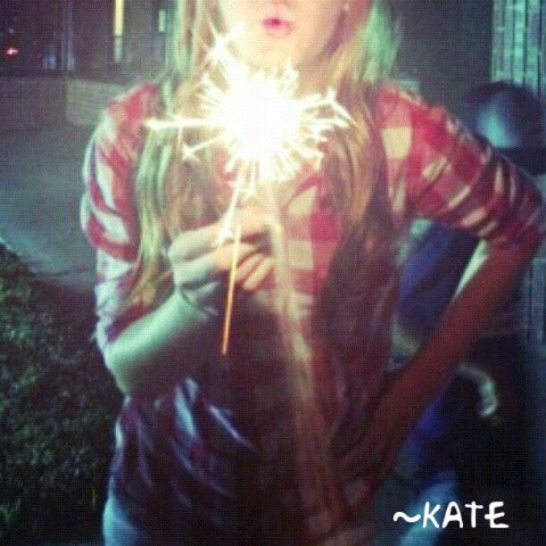 Me. Sparklers. Fourth of July. Night Time.