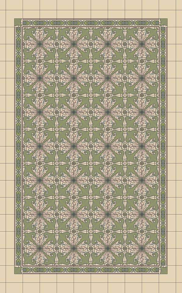 tapis de carreau ciment 20x20cm d cor majorelle vert anis carrelages du marais tile pinterest. Black Bedroom Furniture Sets. Home Design Ideas