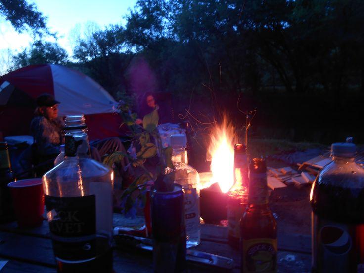 Fire, liquor, and good friends
