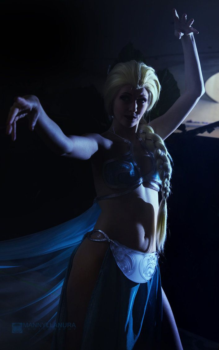 Elsa cosplay slave