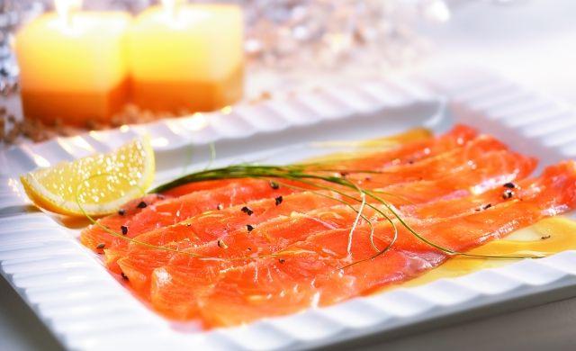 Gravlax de saumon au sucre d'érable