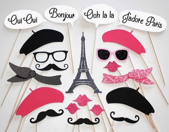 Paris themed pictures at prom if we did the photo booth again