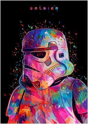Illustrations lowpoly : Les portraits Star Wars prennent de la couleur