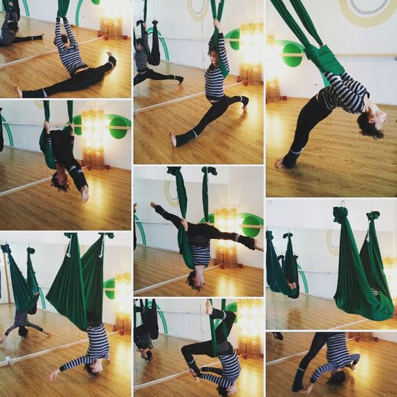 Aerial Yoga & Fitness Hammock by BodyMoveArts on Etsy
