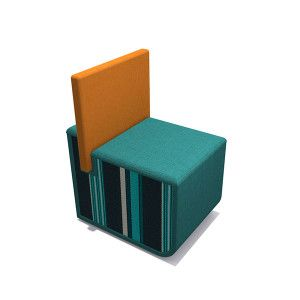 Mr. Ott is an innovative multi-functional seating solution. The squared seat pad can be used as a back rest, lap desk, or a connector to form banquet seating.