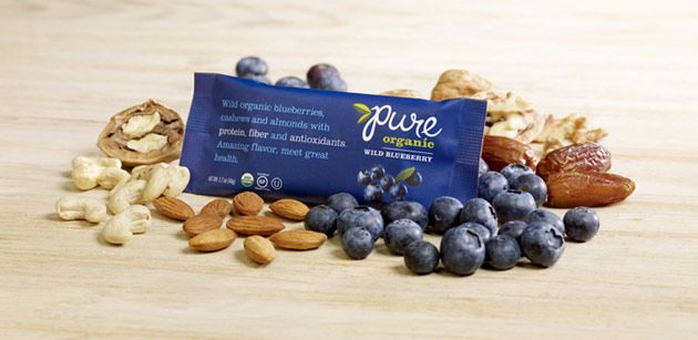 Pure Bar  Wild organic blueberries Not whole 30 approved but I love them in a pinch!