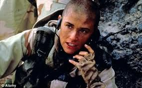 She really pulled it off in this movie . I have never seen anyone take the role of a female Navy Seal better than she did ..