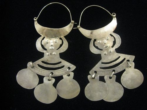// Araucano-Mapuche Earrings, Chile