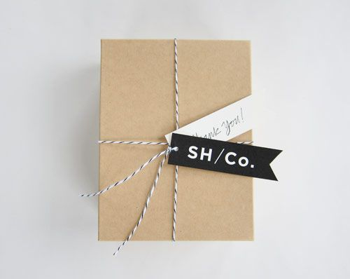 Brown paper + string + B cards