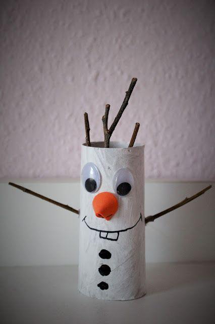 Mamma Gioca: Olaf con i tubi di cartone