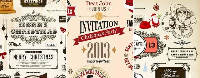 無料素材:クリスマスに最適!デコレーション用のベクター飾りイラストセット