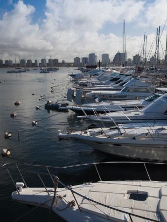 Boats at a Harbor, Punta Del Este, departamento de Maldonado, Uruguay Lámina fotográfica