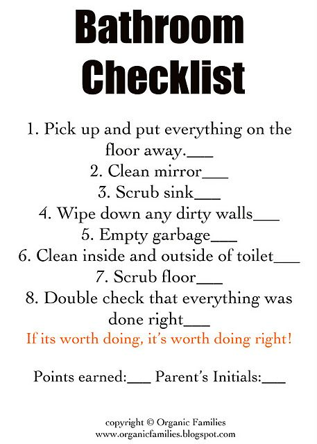 She has chore chart checklists here that you can get for free