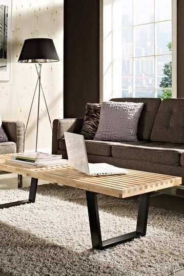 MLF® Nelson Platform Bench (3 Sizes), designed by George Nelson. Rubber Hardwood Top for Smart & Superior Streng. The Nelson bench is suitable for a variety of spaces.