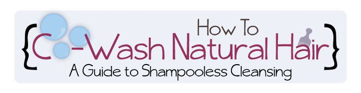 Infographic: How to Co-Wash Natural Hair