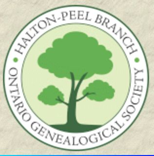 Halton-Peel Branch, Ontario Genealogical Society Visit their booth at Expo Hall for Genealogical publications, etc.