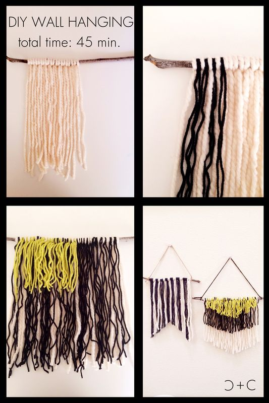 DIY Yarn Wall Hanging - awesome addition for small spaces