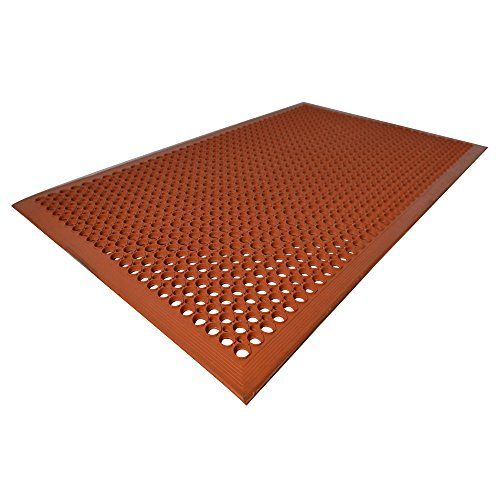 Kitchen Mat| Unimat| Anti-Fatigue & Anti Slip Rubber Mat| 3 x 5 Feet| Orange clay Color| For Industrial and commercials Purpose.