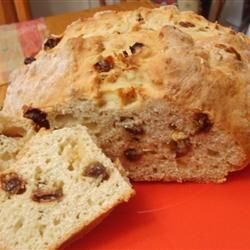 Gonna try for St. Patrick's Day  This hearty quick bread is so tasty, you'd never guess the recipe was born of necessity: yeast won't leaven the soft wheat grown in Ireland. Serve it warm or toasted with tea.
