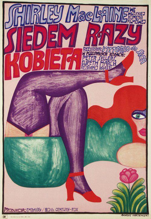 Woman Times Seven, Polish Movie Poster