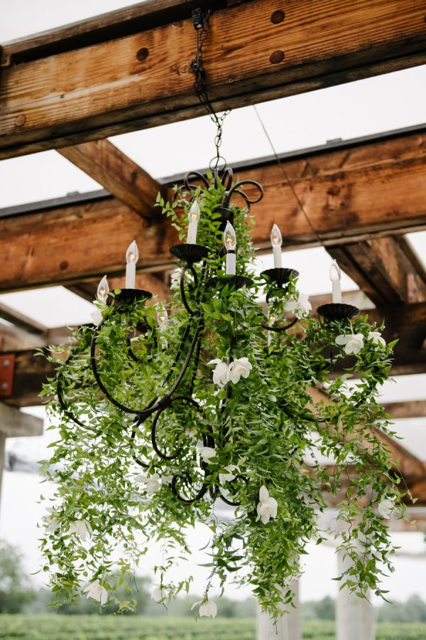Cascading greenery chandelier: http://www.stylemepretty.com/new-york-weddings/long-island/the-hamptons/sagaponack/2017/03/17/gorgeous-hamptons-dinner-party-or-wedding-you-decide/ Photography: Brian Hatton - http://brianhattonweddings.com/