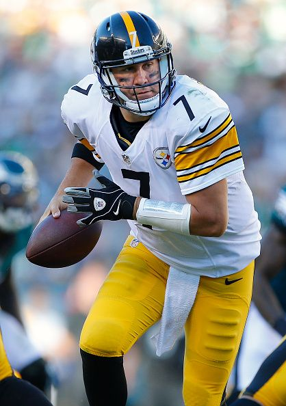 Quarterback Ben Roethlisberger of the Pittsburgh Steelers in action against the Philadelphia Eagles in the first quarter at Lincoln Financial Field...