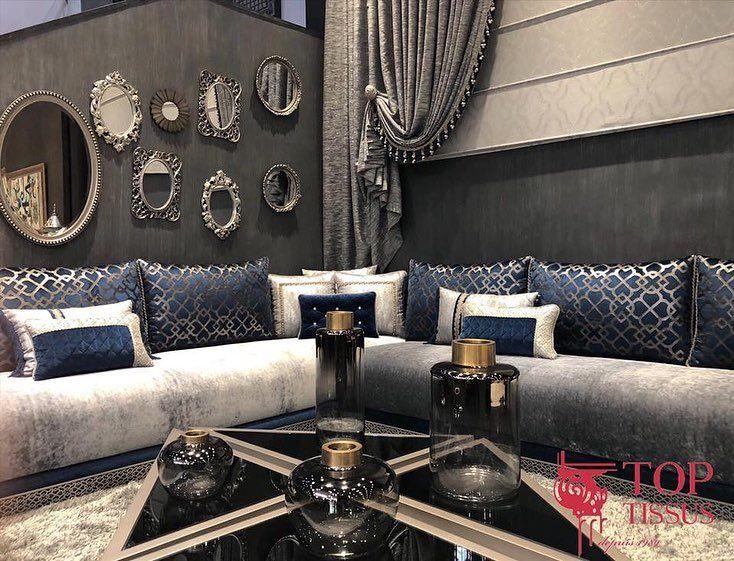 Omment Ne Pas Craquer Face A La Douceur Du Velours La Noblesse Du Bleu Roi Et L Eleg Living Room Design Decor Moroccan Home Decor Furniture Design Living Room
