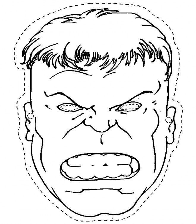Coloriage Avengers Hulk Masque Et Dessin Gratuit à Imprimer