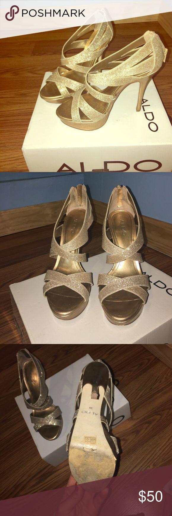 Aldo heels Glittery gold heels Aldo Shoes Platforms